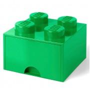 Lego Ladrillo de almacenamiento LEGO (4 espigas) - 1 cajón - Verde