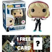 Spider-Gwen - Unmasked (Walgreens Exclusive): Funko POP! x Marvel Universe Vinyl Bobble-Head Figure + 1 FREE Official Marvel Trading Card Bundle (072933)