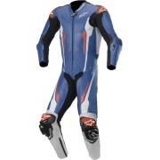 Alpinestars Racing Absolute Tech-Air One Piece Perforated Motorcycl... Black White Blue 46