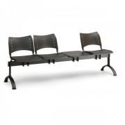 Kovo Praktik Plastové lavice VISIO, 3-sedák + stolek, černé nohy zelená