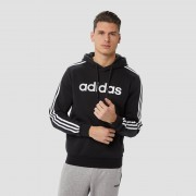 adidas Essentials 3-stripes fleece trui zwart heren Heren - zwart - Size: Large