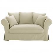Maisons du Monde Divano beige-grigio chiaro in cotone 2/3 posti Roma