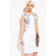 Ala sukienka 005 (biały-wzór)