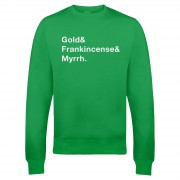 The Christmas Collection Sudadera Navidad Gold & Frankincense & Myrrh - Hombre/Mujer - Verde - XL - Verde