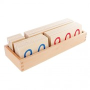 ELECTROPRIME Montessori Counting Big Number Card 1-9000 Children Math Learning Wooden Toy