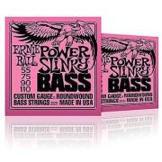 Ernie Ball 2831 Slinky Round Wound Power Bass Strings 2 Pack (Standard)