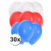 Shoppartners Ballonnen in de kleuren van Slowakije 30x