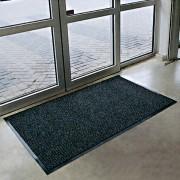 Antracitová textilní vstupní vnitřní čistící rohož Prisma - délka 90 cm, šířka 150 cm a výška 0,8 cm