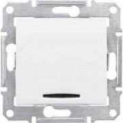 SEDNA Jelzőfényes keresztkapcsoló 10 A IP20 Fehér SDN0501121 - Schneider Electric