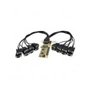 StarTech Tarjeta PCI Express Perfil Bajo con 16 Puertos Serie RS232 DB9 UART 16950 Serial