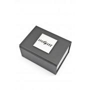Stříbrné manžetové knoflíčky s černo-bílým motivem svatebčanů Avantgard