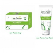 Lee-Neem NEEM Soap For Acne Control (Pack of 5 pcs.) + Lee-Neem NEEM Face Wash for Acne Control (set of 2 pcs.)
