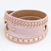 BAGISIMO Růžový náramek - pásek