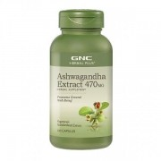 Herbal Plus Ashwagandha Extract 470mg, 100 capsule, GNC