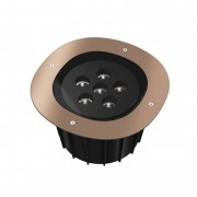 Flos Outdoor A-Round 315 LED, bronze brossé, angle de projection 10°