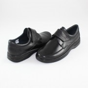 Pantofi piele naturala barbati - negru, Nicolis - 96373-Negru