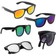 SRPM Wayfarer Sunglasses(Yellow, Blue, Green, Silver, Black)