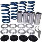 Rev9Power Rev9_CSK-001-BLUE; Honda/Acura Lowering Springs With Height Adjustment Sleeve Kit(Blue)