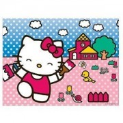 Hello Kitty Sanrio Painting a House Lenticular Puzzle - 100PCS