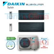 Daikin Climatizzatore Condizionatore Dual Split Dualsplit Parete Inverter Bluevolution 1500015000 Btuh 1515 Stylish Nero Ftxa42atftxa42at 2mxm50m R32 A A Wi Fi Incluso