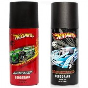 Hot Wheels Speed and Performance Deodorant for Boys Pack of 2 Combo 150ML each 300ML