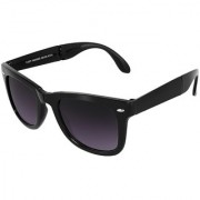 Silver Kartz Folding Delight Wayfarer Rectangular Sunglasses (Black Violet)
