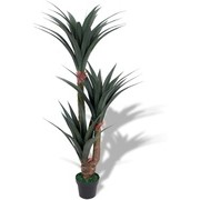 vidaXL Artificial Yucca Plant with Pot 155 cm Green