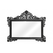 Oglinda dreptunghiulara neagra cu rama din lemn 190x155 cm Baroque Versmissen