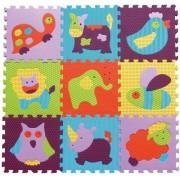 Babygreat - Covoras Puzzle Animalute Vesele 92x92 cm
