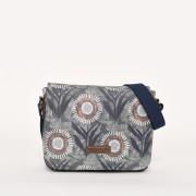 Dámská kabelka Brakeburn Martha Saddle Bag - Blue Slate