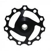 Ciclismo 11-Diente de aleacion de aluminio Derailleur Pulley trasero - Negro
