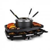 Klarstein Entrecote raclette grillező, terméskő, fondue, 1100 W, 8 fő (GQ6-ENTRECOTE-FONDLE)