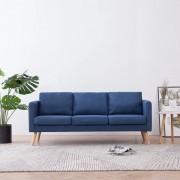 vidaXL 3-местен диван, текстил, син
