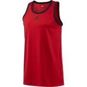 adidas Mens All World Tank Top Red