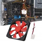 EB Nuevo Ventilador De Refrigeración Duradero Popular De La Computadora De La PC De Los 140MM Ventilador-negro Y Rojo