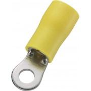 Papuc cu inel, sectiune: 4 - 6 mm², galben, AWG 12 - 10, M3.5, 50 bucati