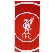 Club Licensed Liverpool 'Bullseye' Large Velour Beach Handdoek - een Maat