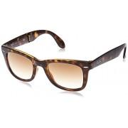 Ray-Ban RB4105 Wayfarer anteojos de sol plegables (50 mm), color café