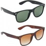 Hrinkar Wayfarer Sunglasses(Green, Brown)