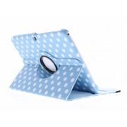 Lichtblauwe 360° draaibare polka dot tablethoes voor de Samsung Galaxy Tab 3 10.1