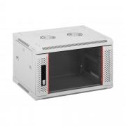 Serverová skříň - 19 palců - 6 HE - uzamykatelná - do 60 kg - šedá