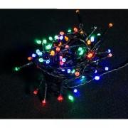 Luci natalizie LED - multicolore - 4,3 m collana di luci + 5m cavo - verde - 100 - 13400 - 164108 - No Brand