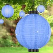 Napelemes LED óriás lampion kék 30 cm