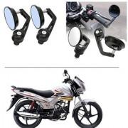 AutoStark 7/8 22cm Motorcycle Rear View Mirrors Handlebar Bar End Mirrors - Mahindra Centuro