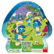 Puzzle cu rama - Strumfii (21 piese)