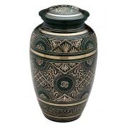 Grote Messing Urn Oudgroen - Messing Preeg (3.2 liter)
