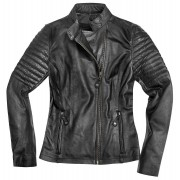 Black-Cafe London Shona Damer motorcykel skinnjacka XL Svart