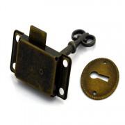 Vintage Antieke Klassieke lock meubilair lock Lade Brons Glas Sloten Shift deurslot