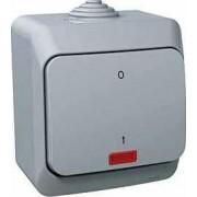 CEDAR PLUS Kétpólusu kapcsoló jelzőfénnyel 16 A IP44 Szürke WDE000621 - Schneider Electric