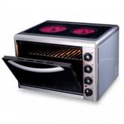 Малка готварска печка Eldom 201VFB, 3300 W, стъклокерамичен плот, 38 л., инокс